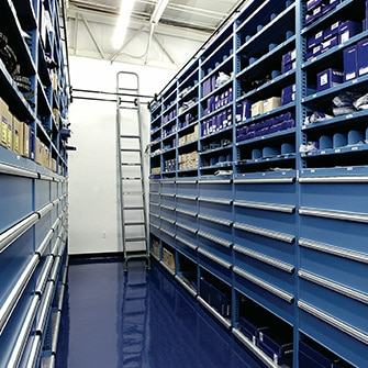 Maintenance and repair - parts storage