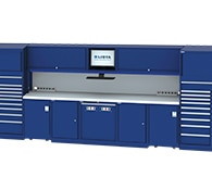 Service double bay technician workstation blue thumbnail